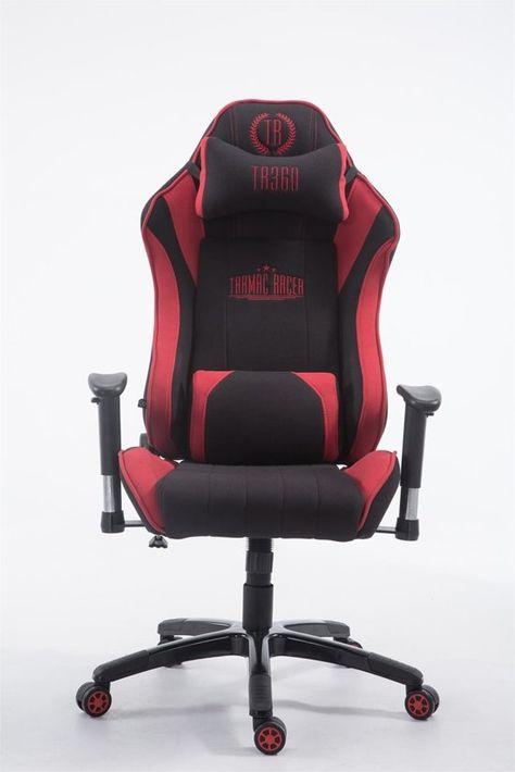 Bureaustoel Met Voetsteun.Clp Xl Racing Bureaustoel Shift Stof Zwart Rood In 2020
