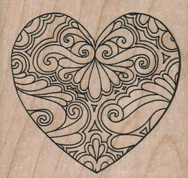 Valentine Tangled heart  retro  wood mounted by pinkflamingo61, $5.85