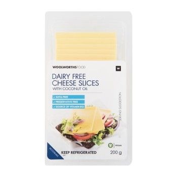 Dairy Free Cheese Slices With Coconut Oil 200g Dairy Free Cheese Dairy Free Soya Free