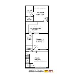 17 X 35 Sq Ft House Plan Gharexpert Com My House Plans Indian