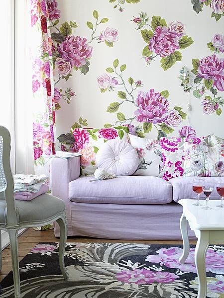 Floral Wallpaper Designs For Living Room Floral Wallpaper Designs