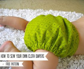 how to make your own cloth diapers +free pattern