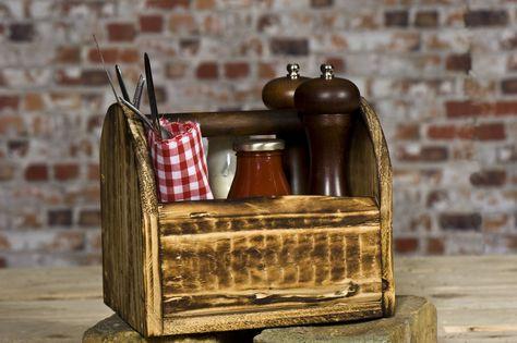Rustic Condiment Holder