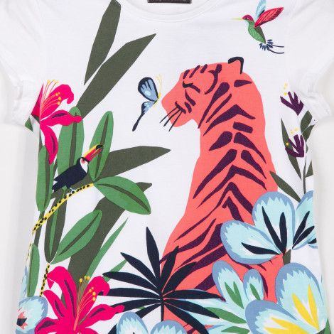 Catimini T-Shirt with Oasis Garden Print