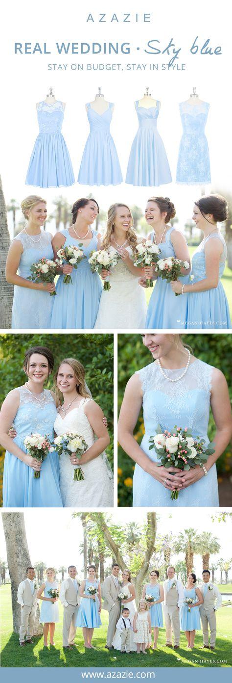 Sky Blue Bridesmaid Dresses | Azazie