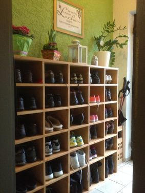Offenes Schuhregal Aufbewahrung Flur Regal Schuhschrank Selber