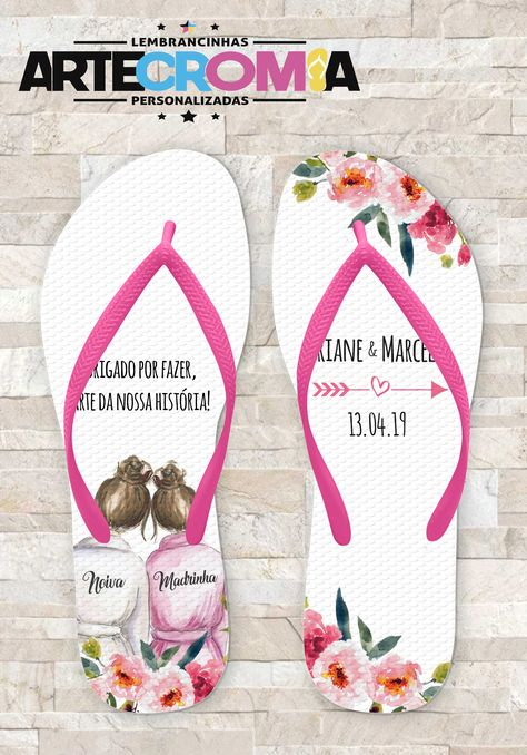 0e8588d97f Chinelo Personalizado Madrinhas de Casamento Artecromia Lembrancinhas  Personalizadas