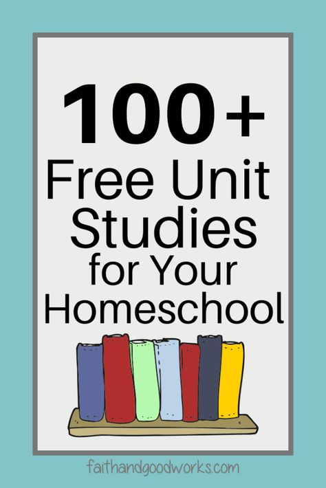 The Ultimate Collection of Free Unit Studies for an Entire Year of Homeschooling Your Preschool to High School Aged Students. Free Homeschool Curriculum, Homeschool High School, Homeschooling, Science Curriculum, Science Classroom, Homeschool Kindergarten, Kindergarten Readiness, Unit Studies, Just In Case