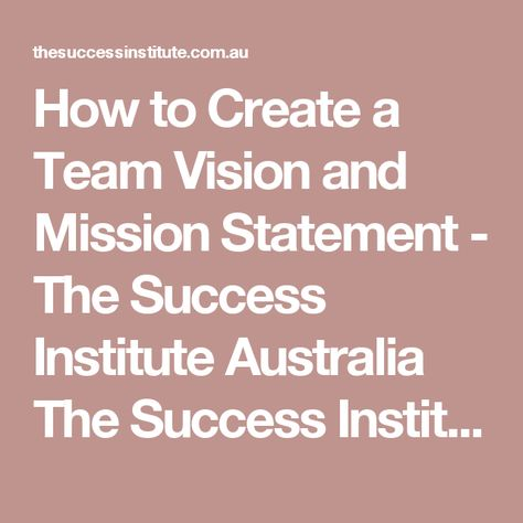 The  Best Vision And Mission Statement Ideas On