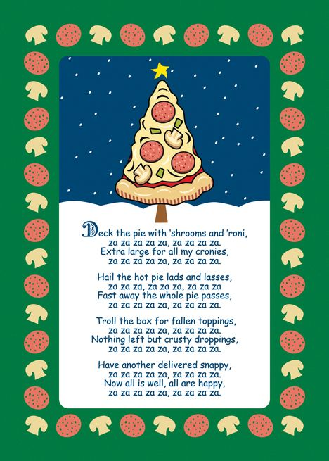 Funny Pizza Tree Christmas Parody Song Card Ad Ad Tree Pizza Funny Christmas Pizza Funny Pizza Song Parody Songs