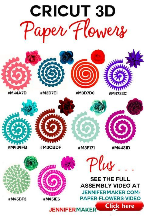 How To Make Cricut Paper Flowers All 10 3d Paper Flowers Paper