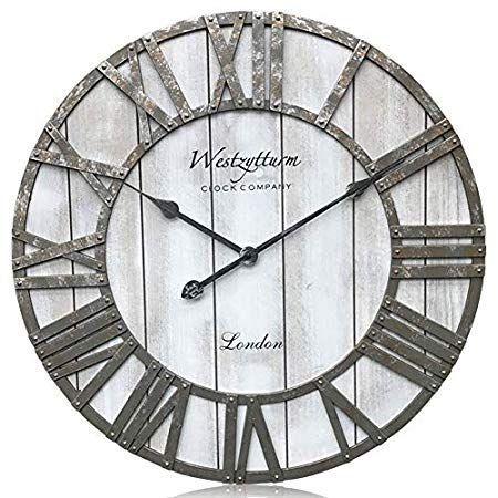 Coastal Wall Clocks Beach Wall Clocks Beachfront Decor Large Wall Clock Decor Clock Wall Decor Rustic Wall Clocks