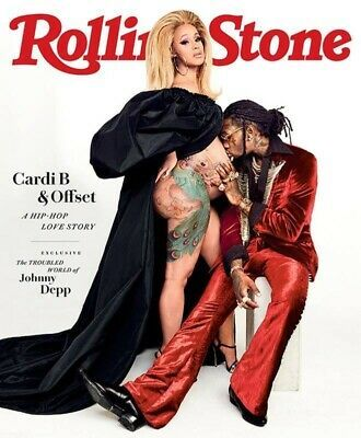 Cardi B and Offset shut down the internet with their latest Rolling Stone cover . Cardi B .