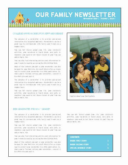 Free Family Newsletter Template Fresh Family Newsletter Newsletter Template Free Newsletter Templates Word Newsletter Templates