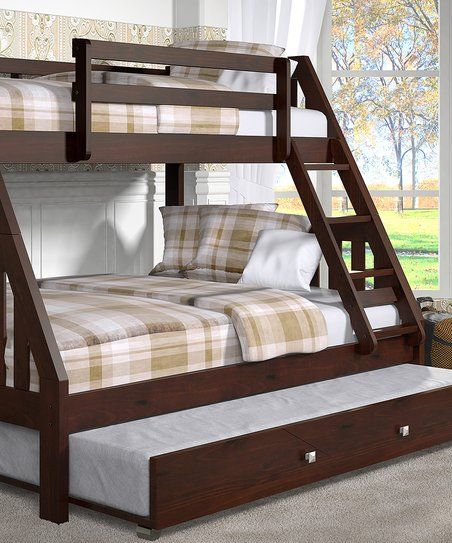 Donco Kids Dark Cappuccino Mission Twin Full Trundle Bunk Bed