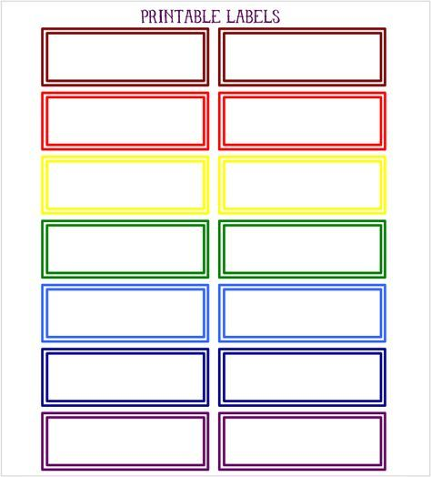 Printable Color Coded DIY Labels | Projects to try