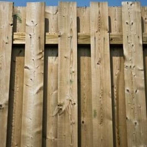 How To Stain A Fence With A Pump Sprayer Shadow Box Fence Building A Fence Diy Privacy Fence