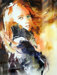 Maryse De May Watercolor Watercolor Portraits Contemporary
