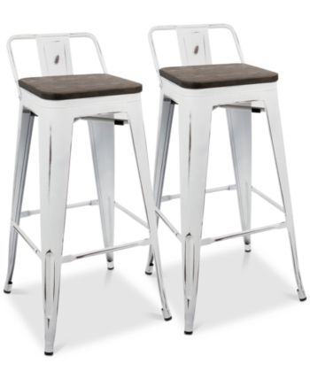 Lumisource Oregon Bar Stool Set Of 2 Reviews Furniture Macy S In 2020 Metal Bar Stools Bar Stools Industrial Bar Stools