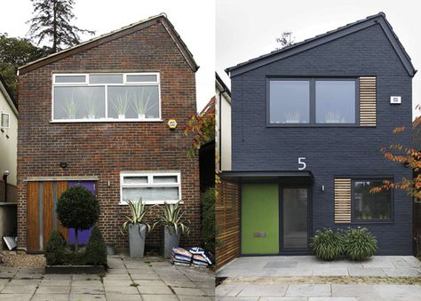1960u0027s exterior transformation by Back to Front Exterior Design + - cout agrandissement maison 30m2