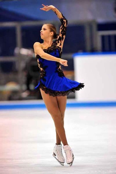 Carolina Kostner, 2011 SP  Galicia Flamenca, Blue Figure Skating / Ice Skating dress inspiration for Sk8 Gr8 Designs.