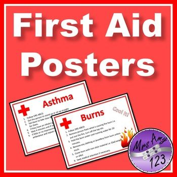 First Aid Posters First Aid Poster First Aid First Aid For Kids