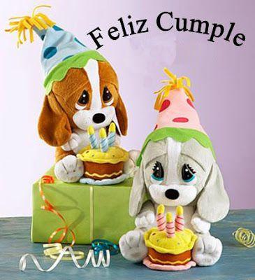 Lindos Peluchos De Perritos Te Desean Un Feliz Cumple Feliz Cumpleaños Con Perros Postales De Feliz Cumpleaños Feliz Cumpleaños
