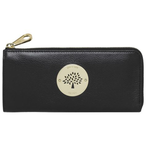 Mulberry Daria Slim Zip wallet Black Soft Spongy Leather...£280 ... a531e0fe5fa9e