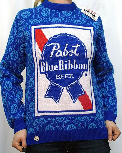 pbr sweater: no other option than #hipsterfashion. | Beer