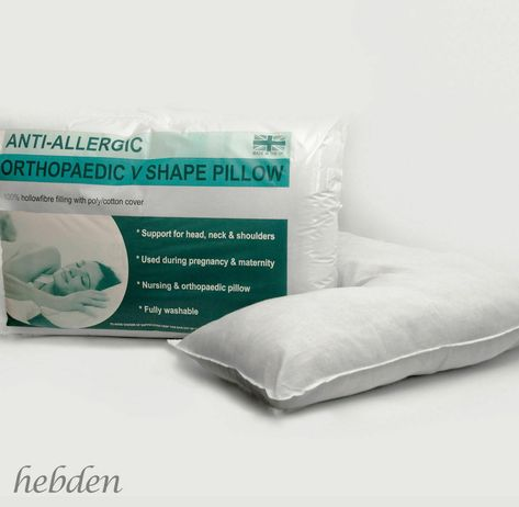 Hollow Fibre Orthopaedic Head Back /& Neck Support V Shaped Pillow Extra Filled