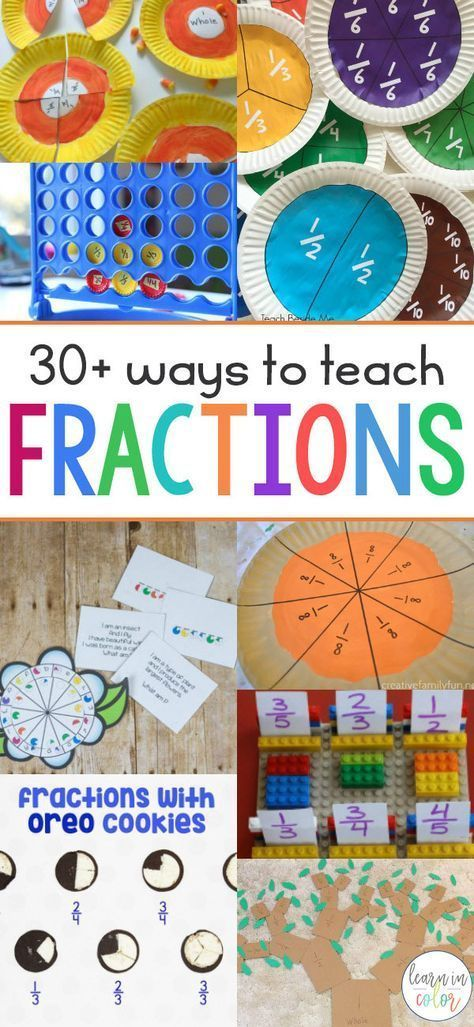 Teaching fractions can sometimes be frustrating. Try these hands-on activities to teach fractions to make learning a breeze. Teaching fractions can sometimes be frustrating. Try these hands-on activities to teach fractions to make learning a breeze. Fraction Games, Fraction Activities, Math Activities For Kids, Hands On Activities, Math Games, Fraction Art, Rhyming Games, Kids Math, Hands On Learning