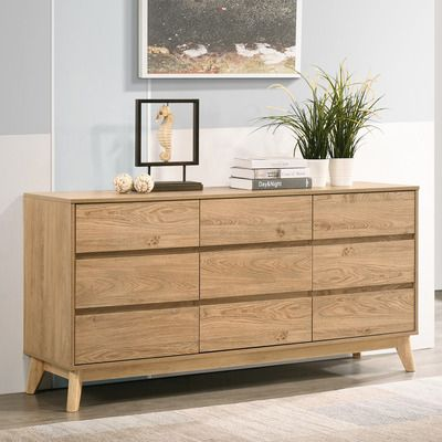 Natural Anderson 9 Drawer Chest Bedroom Chest Of Drawers Chest Of Drawers Decor Drawers For Sale