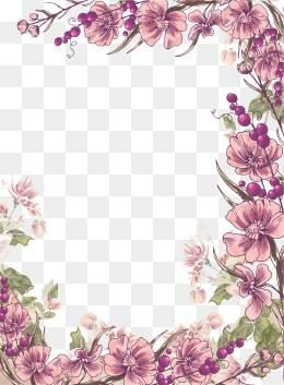 Free Download Ink Purple Flower Border Background Png Image Iccpic Iccpic Com Desain Undangan Perkawinan Undangan Pernikahan Undangan Perkawinan