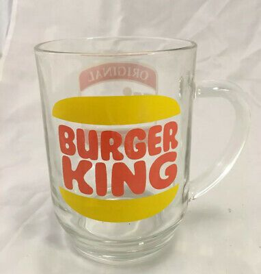 Vintage Burger King Original Hires Original Root Beer Clear Glass Mug Cup Logo Ebay Root Beer Burger King Mug Cup