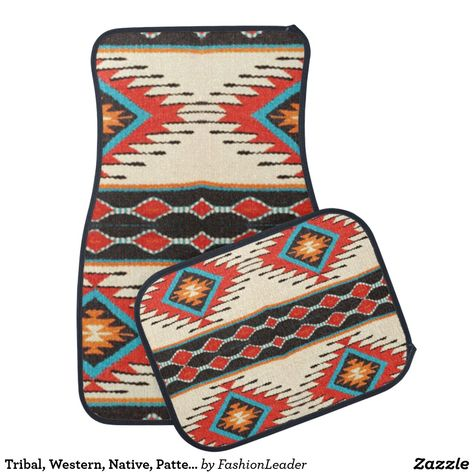 Tribal Western Native Pattern Print 14 This Will Brighten Up Your Vehicle Western Style Print Patterns Western Car Car Mats