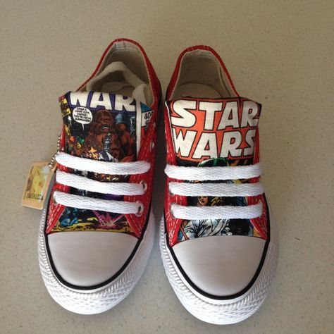 Kids Star Wars custom chuck's Converse shoes Geek by