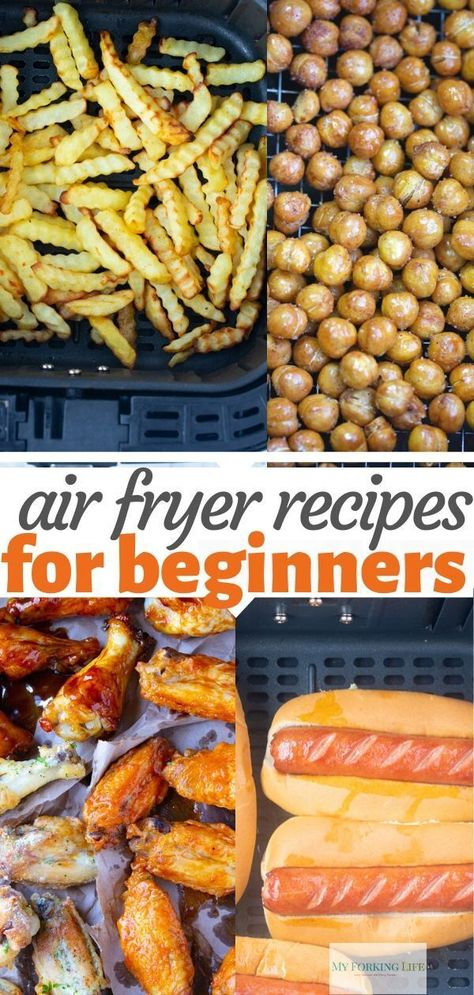 These Air Fryer Recipes are easy and perfect for beginners. They are simple and easy enough to help you learn and master your air fryer recipes. # 7 Easy Air Fryer Recipes for Beginners Air Fryer Oven Recipes, Air Frier Recipes, Air Fryer Dinner Recipes, Air Fryer Chicken Recipes, Recipes For Airfryer, Easy Family Dinner Recipes, Family Meals, Power Air Fryer Recipes, Air Fryer Recipes Vegetables