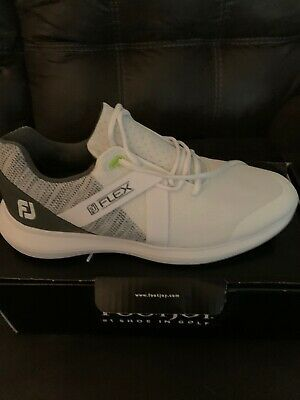 Ad Ebay Footjoy Men S Fj Flex Golf Shoes 10 56101 White New Golf Shoes Footjoy Golf Shoes Mens
