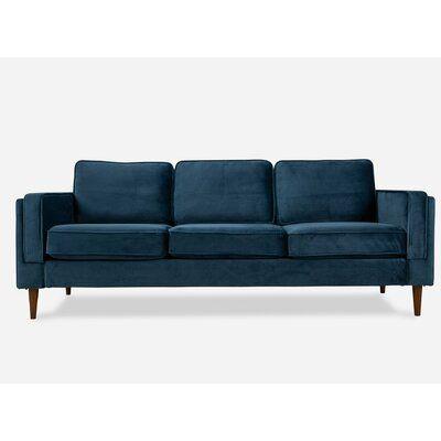 Alp Astral Sofa Wayfair In 2020 Blue Velvet Sofa Sofa Modern Velvet Sofa