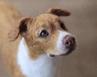 Needle Felted Dog Custom Portrait Of Your Pet 11 12 Month Turnaround Time Needle Felted Dog Felt Dogs Needle Felting