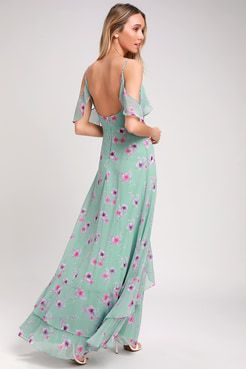 Take You There Mint Green Floral Print Maxi Dress | Floral