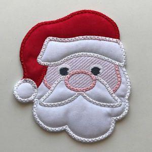 Free In the hoop Santa Coaster | Machine Embroidery