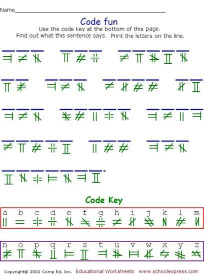 Free Printable Secret Code Worksheets Schoolexpress Free Worksheets Create Your Own Free Printable Math Worksheets Worksheets Free Printable Math Worksheets