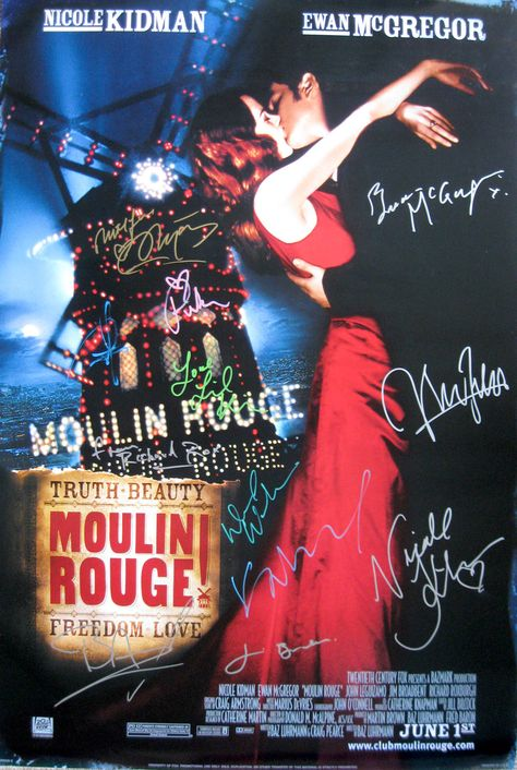 Moulin Rouge! (2001) original 27x40 movie poster cast signed by