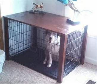 Dog Crate Table DIY  Success! | Craft A Holic. | Pinterest | Pet Projects |  Pinterest | Dog Crate Table, Dog Crate And Crates