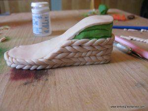 Fondant Wedge Shoe Tutorial