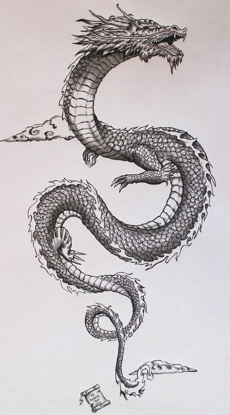 Tatto Ideas 2017 - Ancient japanese dragon on Behance. Tatto Ideas & Trends 2017 - DISCOVER Ancient japanese dragon on Behance Discovred by : A L I C E Kunst Tattoos, Irezumi Tattoos, Body Art Tattoos, Tatoos, Spine Tattoos, Leg Tattoos, Geisha Tattoos, Tattoo Forearm, Stomach Tattoos