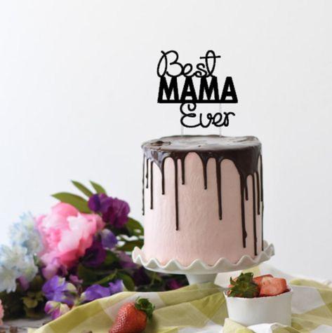 Personalised Wooden Happy Birthday Mummy CAKE TOPPER.