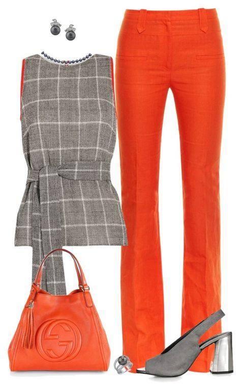 Nope for orange pants