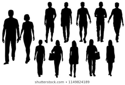 Vector Silhouettes Men And Women Standing Business People Group Black Color Isolated On White Backgrou Silhouette Architecture Silhouette Silhouette Man